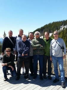 The Boys enjoying the spring sunshine on our Canadian Rockies Tour